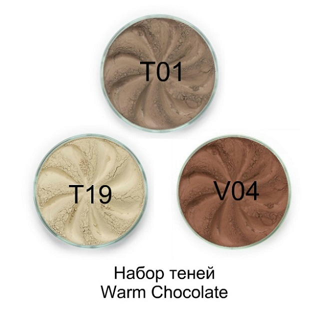 Набор теней Warm Chocolate